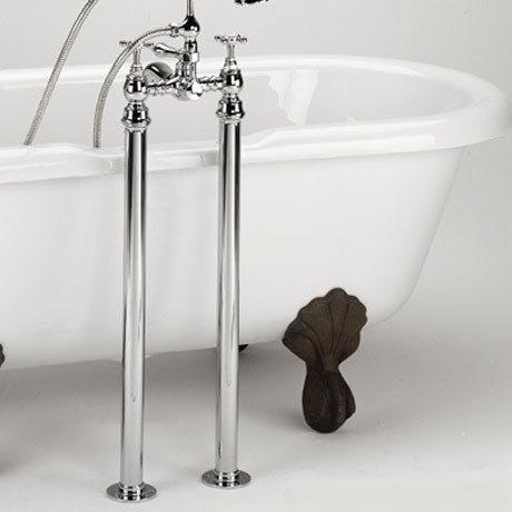 Bristan - Freestanding Bath Pipe Shrouds - Chrome - LEG-C