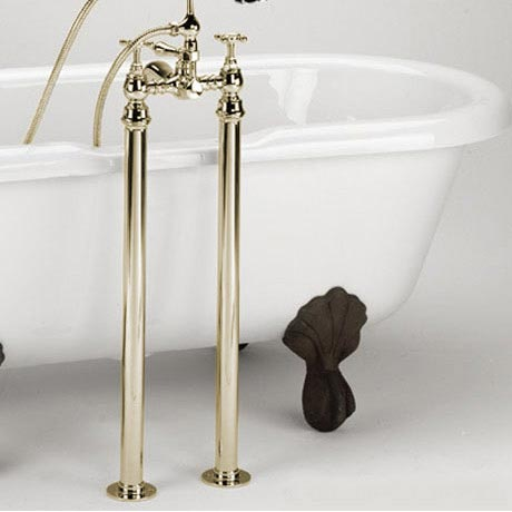Bristan - Freestanding Bath Pipe Shrouds - Gold - LEG-G profile large image view 1