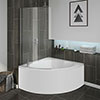 Laguna Corner Shower Bath with Screen + Panel profile small image view 1