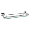 Hudson Reed Traditional Chrome Glass Gallery Shelf - LH305 profile small image view 1