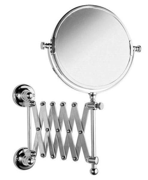 Chrome Extendable Bathroom Mirrors Designer Towing At Victorian Plumbing UK