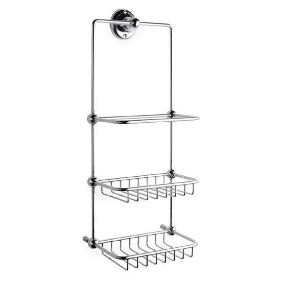 Ultra Traditional Shower Tidy - Chrome - LH316 Large Image