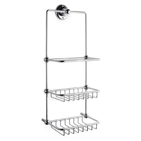 Ultra Traditional Shower Tidy - Chrome - LH316 at Victorian Plumbing UK