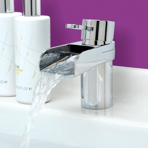 Mayfair - Lila Mono Basin Mixer Tap with Click Clack Waste - LIL009 Profile Large Image