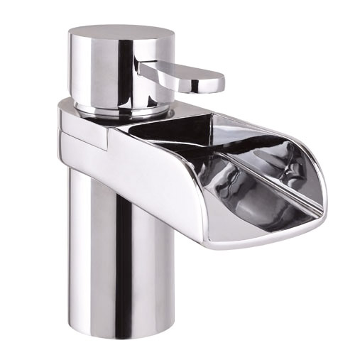 Mayfair - Lila Mono Basin Mixer Tap with Click Clack Waste - LIL009 Large Image