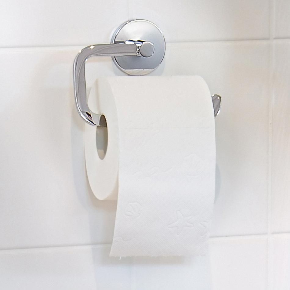 Smedbo Loft Toilet Roll Holder - Polished Chrome - LK341 profile large image view 2