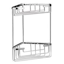 Chrome Large 2 Tier Corner Basket - LL308 Medium Image