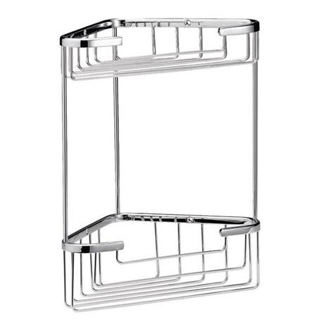 Chrome Large 2 Tier Corner Basket - LL308
