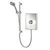 Aqualisa - Lumi Electric Shower with Adjustable Head - White/Chrome profile small image view 1