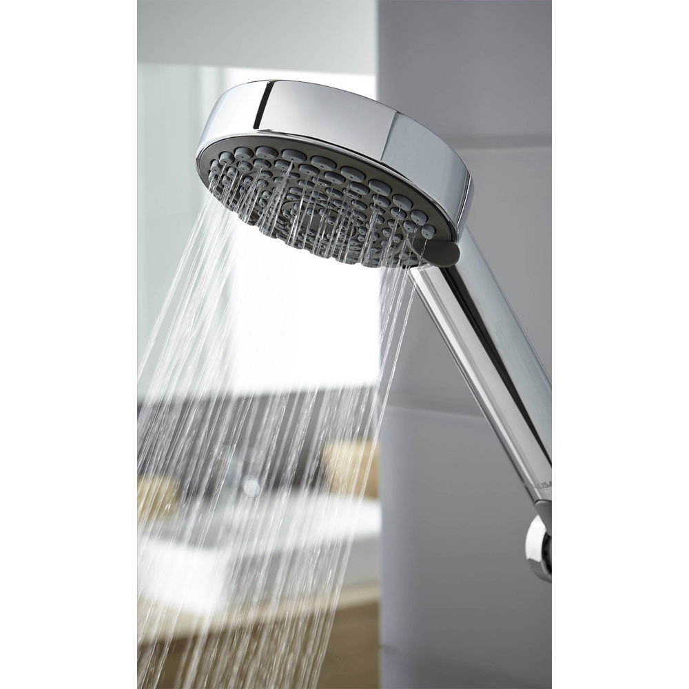Aqualisa - Lumi Electric Shower with Adjustable Head - White/Chrome In Bathroom Large Image
