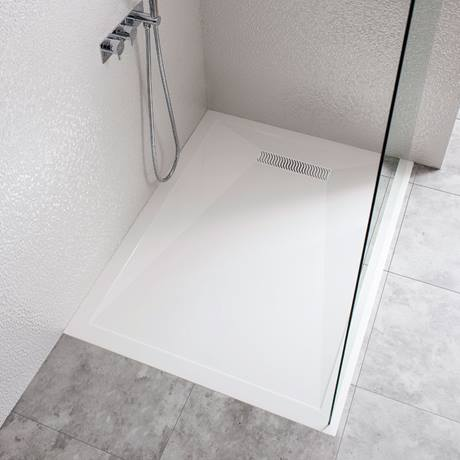 Simpsons Rectangular Low Profile Stone Resin Shower Tray