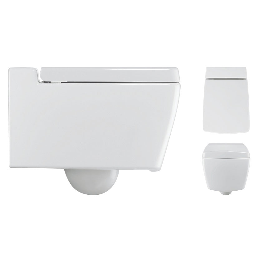 Bauhaus - Linea Wall Hung Pan with Soft Close Seat Profile Large Image