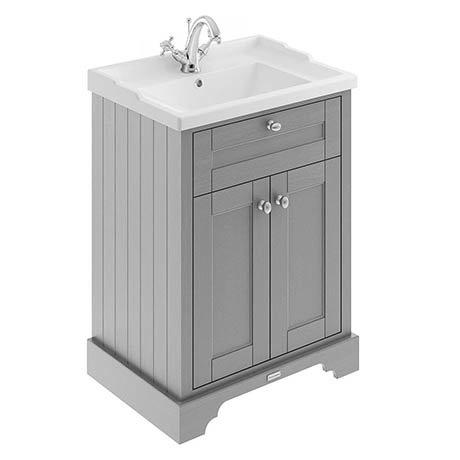 Old London 600mm 2-Door Cabinet & Basin - Storm Grey