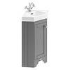 Old London Cloakroom Corner Cabinet & Basin - Storm Grey - LOF209 profile small image view 1