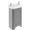 Old London 515mm Cloakroom Cabinet & Basin - Storm Grey - LOF269 profile small image view 1