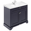 Old London 1000mm 2-Door Cabinet & Basin - Twilight Blue profile small image view 1