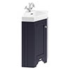 Old London Cloakroom Corner Cabinet & Basin - Twilight Blue - LOF309 profile small image view 1