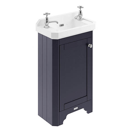 Old London 515mm Cloakroom Cabinet & Basin - Twilight Blue - LOF369