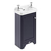 Old London 515mm Cloakroom Cabinet & Basin - Twilight Blue - LOF369 profile small image view 1