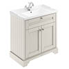 Old London 800mm 2-Door Cabinet & Basin - Timeless Sand profile small image view 1