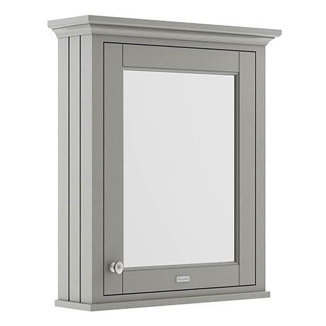Old London 600mm Mirror Cabinet - Storm Grey - LON214