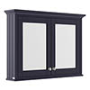 Old London 1050mm Mirror Cabinet - Twilight Blue - LON317 profile small image view 1