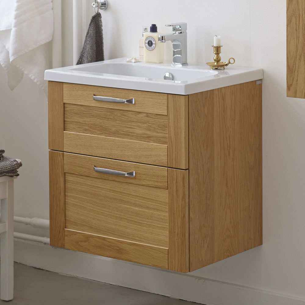 Miller London 60 Wall Hung Two Drawer Vanity Unit + Basin (White) profile large image view 4
