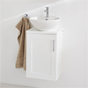 Miller London Wall Hung Countertop Basin Unit - White - 400mm inc. Basin profile small image view 1