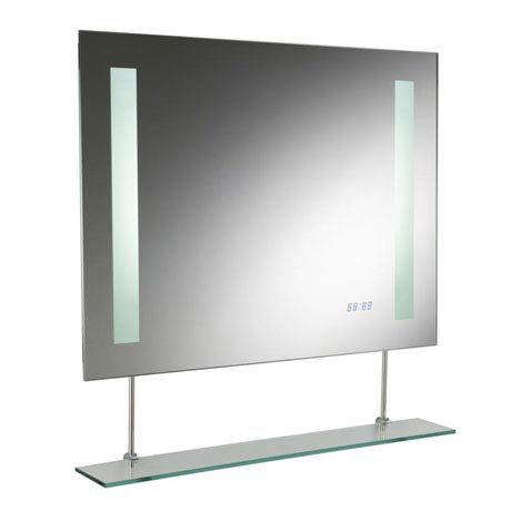 Hudson Reed Visage Motion Sensor Backlit Mirror w/ De-mist Pad & Clock - LQ021