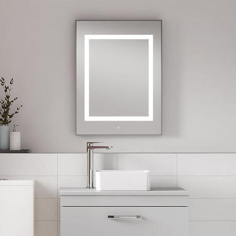 Premier Level Square Motion Sensor LED Mirror with De-Mister Pad - LQ035