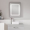Nuie Level Square Motion Sensor LED Mirror with De-Mister Pad - LQ035 profile small image view 1