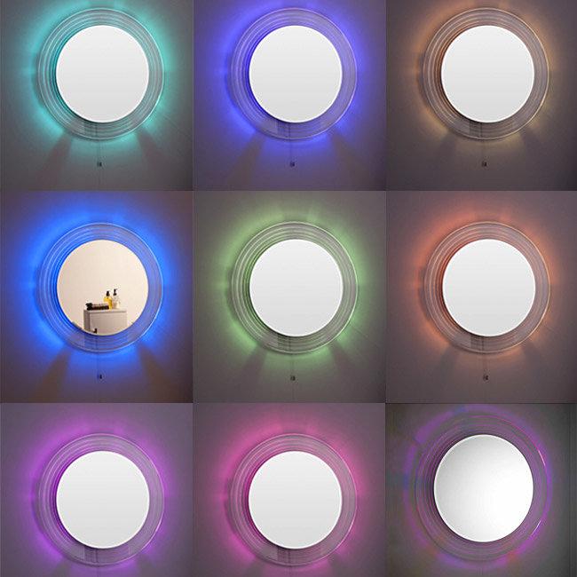 Premier Orpheus Colour Changing LED Mirror - 600mm Diameter - LQ037 profile large image view 2