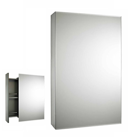 Premier - Intrigue Side Opening Mirrored Cabinet - H750 x W460mm - LQ039 Profile Large Image