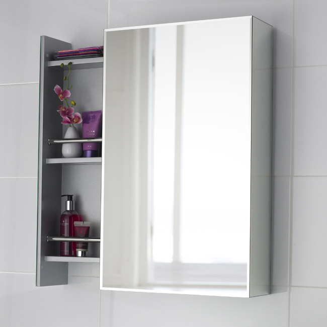 Premier - Intrigue Side Opening Mirrored Cabinet - H750 x W460mm - LQ039 Large Image