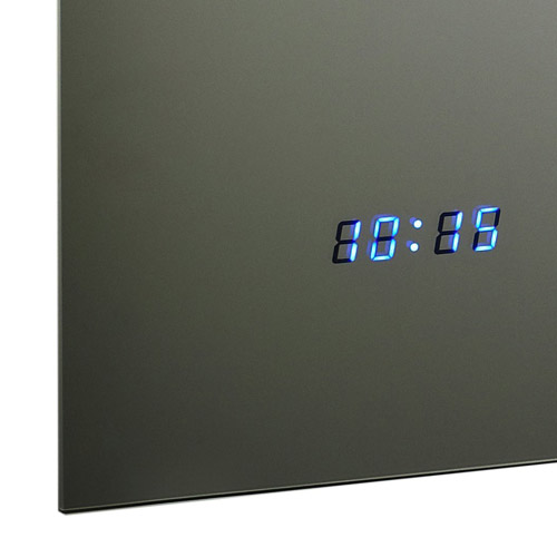 Hudson Reed Vizor Motion Sensor Mirror w/ Shaving Socket, Digital Clock & De-Mist Pad - LQ042 Feature Large Image