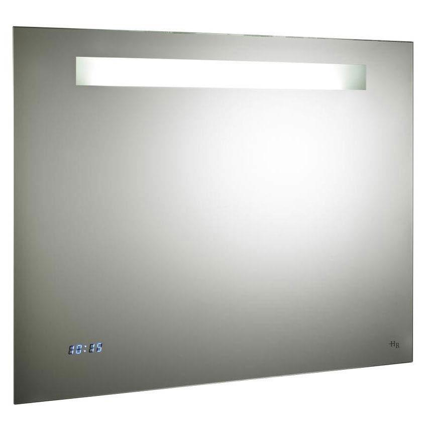 Hudson Reed Vizor Motion Sensor Mirror w/ Shaving Socket, Digital Clock & De-Mist Pad - LQ042 Large Image