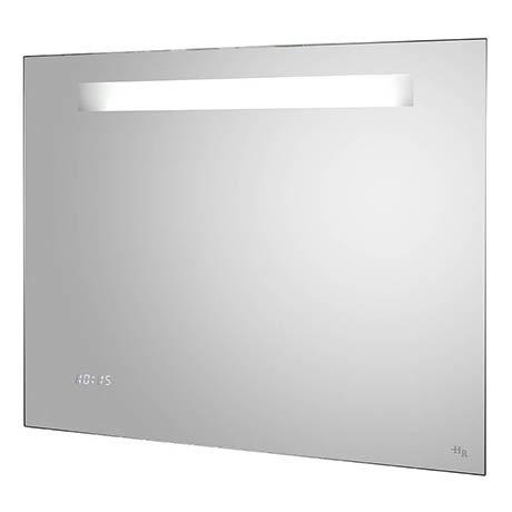 Hudson Reed Vizor Motion Sensor Mirror w/ Shaving Socket, Digital Clock & De-Mist Pad - LQ042