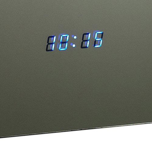 Hudson Reed Panorama Motion Sensor Backlit Mirror w/ Shaving Socket, Digital Clock & De-Mist Pad profile large image view 3