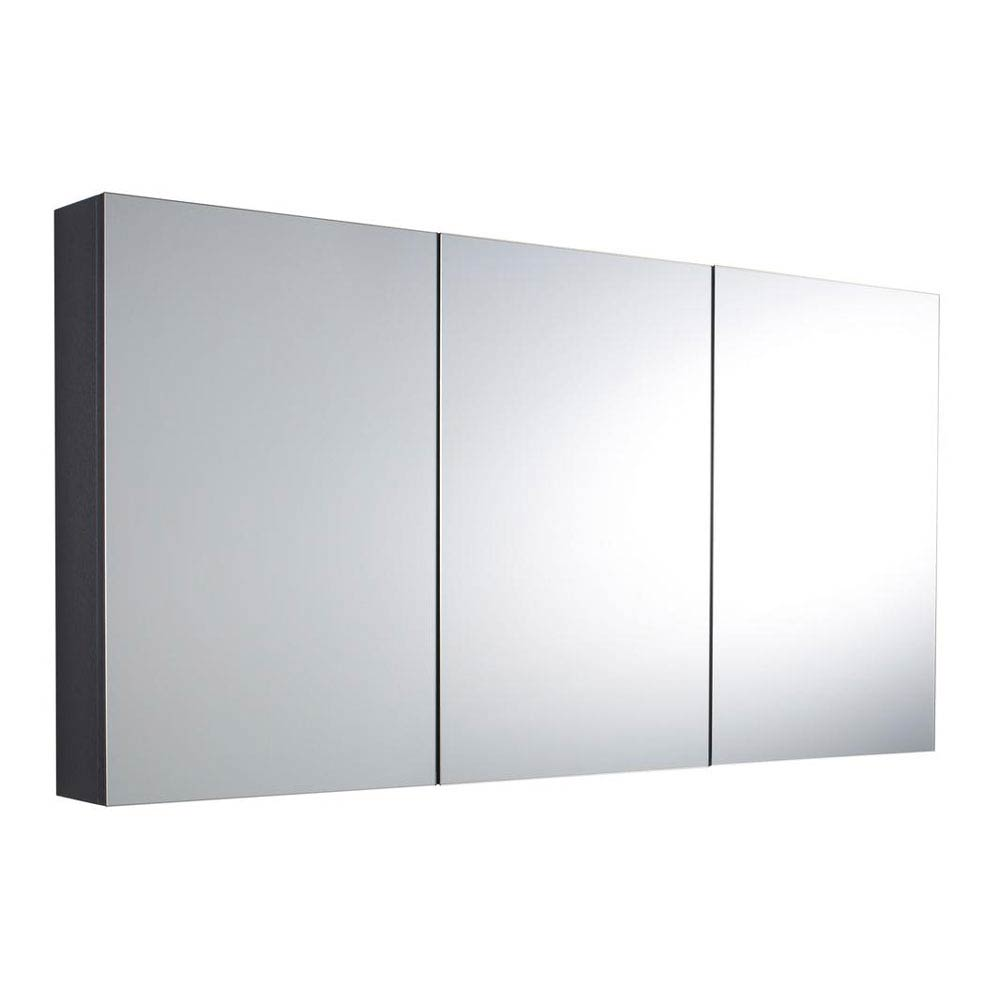 Hudson Reed - Quartet Mirror Cabinet - High Gloss Grey - LQ055 profile large image view 1