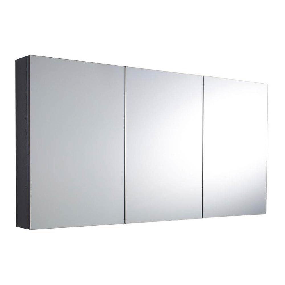 Hudson Reed - Quartet Mirror Cabinet - High Gloss Grey - LQ055 Large Image