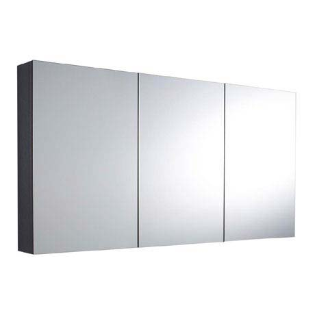 Hudson Reed Quartet Mirror Cabinet - High Gloss Graphite - LQ055
