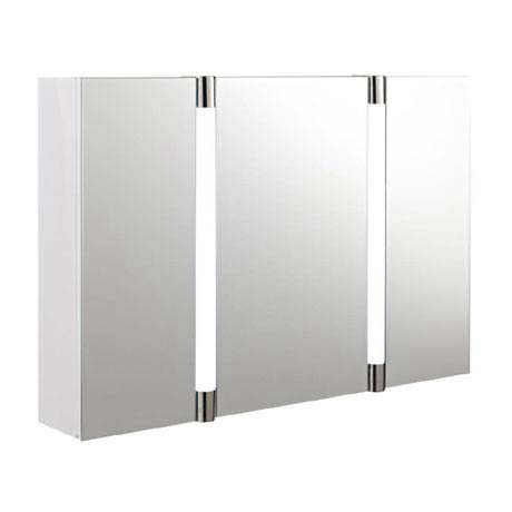 mirrored bathroom cabinets with lights hudson reed lincoln mirror cabinet with led light 23784