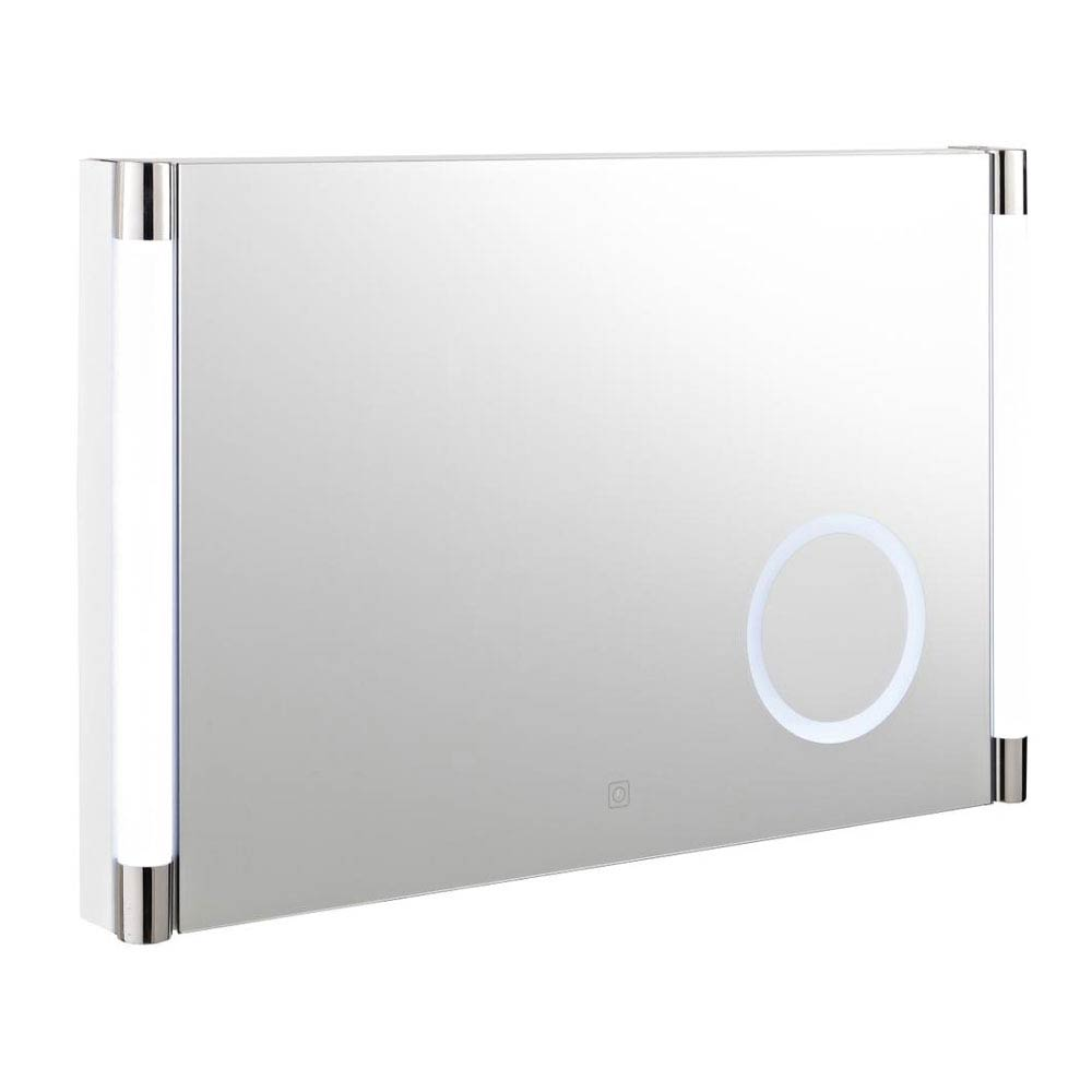 Hudson Reed - Lara Touch Sensor LED Mirror with Integrated Magnifying Mirror - LQ058 Large Image