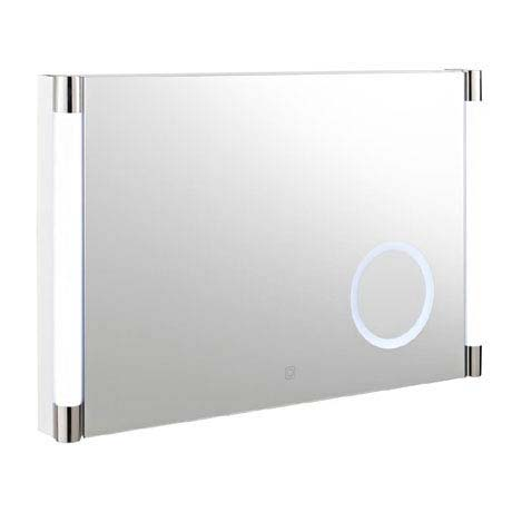 Hudson Reed - Lara Touch Sensor LED Mirror with Integrated Magnifying Mirror - LQ058