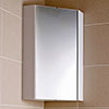 Hudson Reed - Design Gloss White Corner Mirror Cabinet with one shelf - LQ059 profile small image view 1