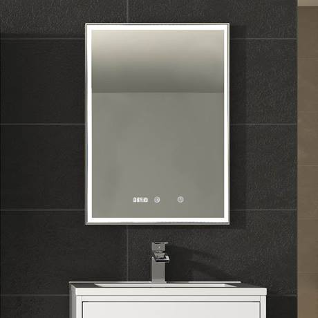 Hudson Reed Lustre Led Touch Sensor Mirror With Clock