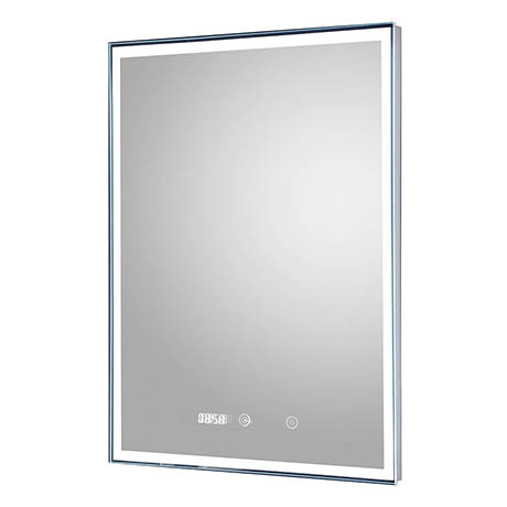 Hudson Reed Lustre LED Touch Sensor Mirror with Clock & Demister Pad - LQ088