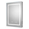 Hudson Reed Prisma 500mm Bluetooth LED Touch Sensor Mirror with Clock & Demister Pad - LQ091 profile small image view 1