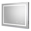 Hudson Reed Prisma 800mm Bluetooth LED Touch Sensor Mirror with Clock & Demister Pad - LQ092 profile small image view 1
