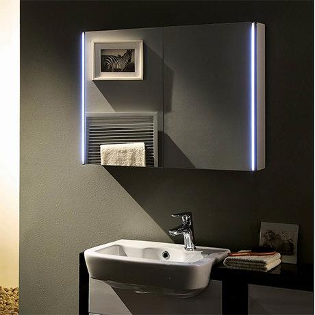 Hudson Reed Leda 800mm LED Motion Sensor Mirror Cabinet with Shaver Socket - LQ094